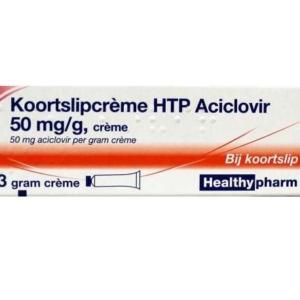 HTP Aciclovir Koortslip Creme, 3 gr