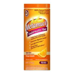 Metamucil Fiber Orange Smooth Sugar Free 15 Oz