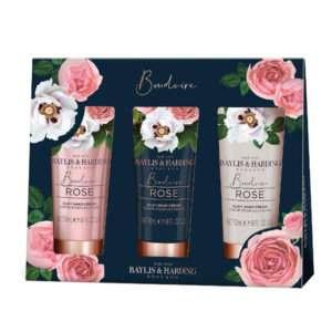Baylis & Harding Boudoire Rose 3 Hand Cream Giftset