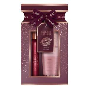 Baylis & Harding Cranberry Martini 2 Piece Cracker Set