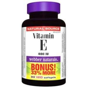 Webber Vitamin E 400 IU Natural Source 120.0 Capsules