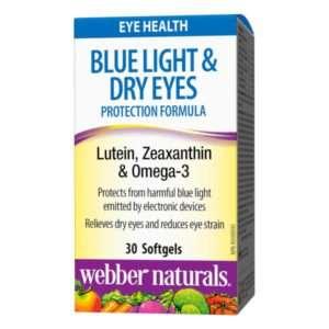 Webber Naturals Blue Light & Dry Eyes Protection Formula Lutein, Zeaxanthin & Omega-3