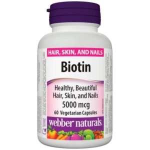 Webber Naturals Biotin 5000 Mcg 60 Caps.