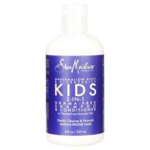 SheaMoisture Marshmallow Root & Blueberries Kids 2-in-1 Drama-Free Shampoo & Conditioner, 8 Fl Oz